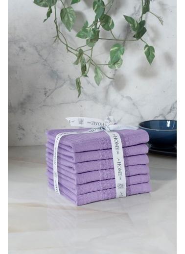 For Home %100 Pamuk 6'lı 30x50 Mutfak-El Havlusu Tinda Ametist Renkli
